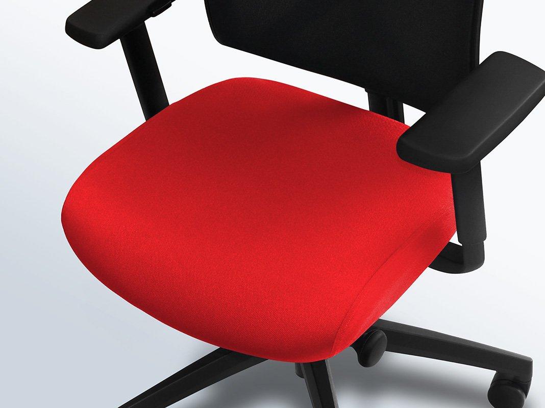 Bureaustoel-hoes-rood