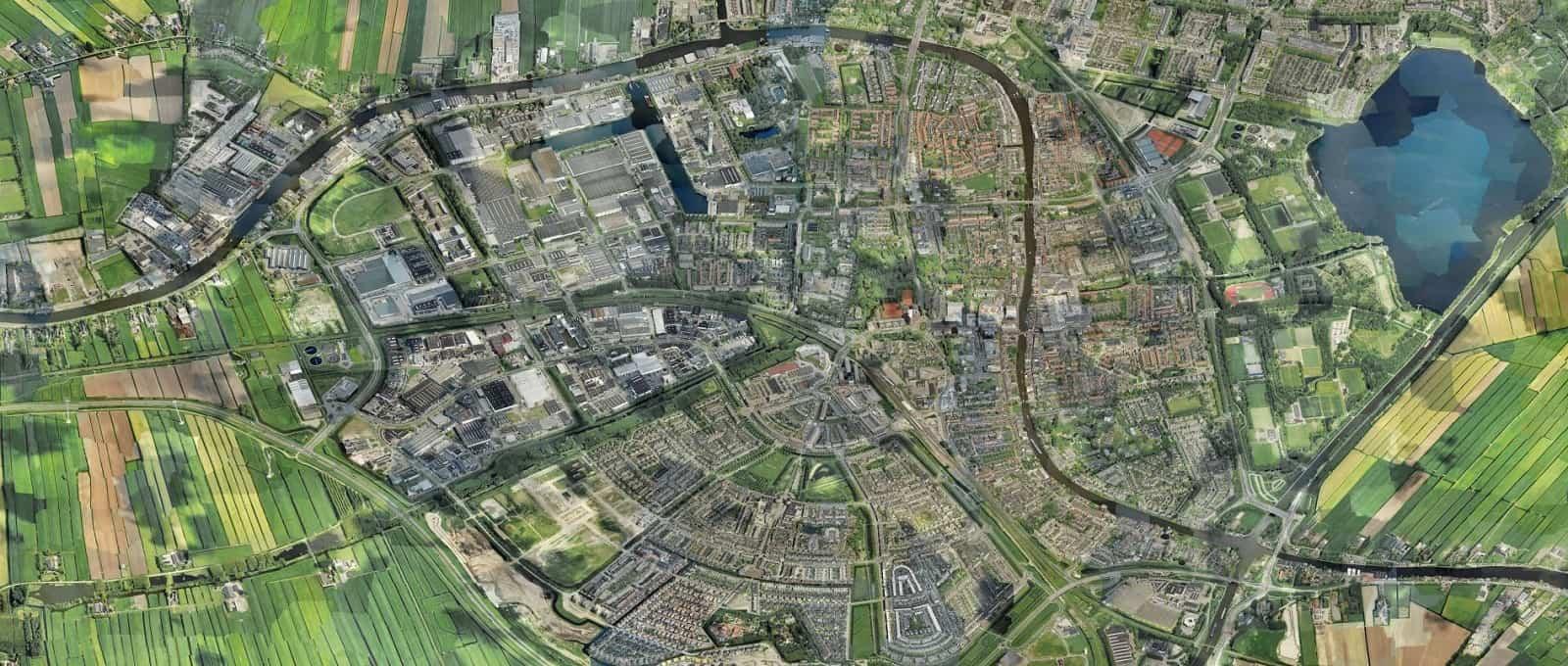 Alphen-ad-Rijn-luchtfoto